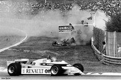 Ferrari f1 312 t5 80 Imola - n.2 Villenueve crash