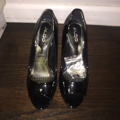 Aldo patent leather heel Peep toe heel ALDO Shoes Heels