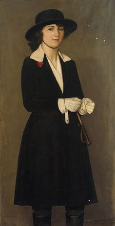 Portrait of a Young Woman in Riding Clothes, 1923 by ELeonora (Nora) Mees (Dutch 1882-1960)