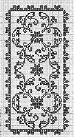 Crochet Table Runner Pattern, Crochet Lace Edging, Crochet Doilies, Knit Crochet, Cross Stitch Designs, Cross Stitch Patterns, Cross Stitch Embroidery, Hand Embroidery, Crochet Carpet