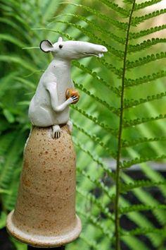 hauptsache keramik: Neue Zaunhocker