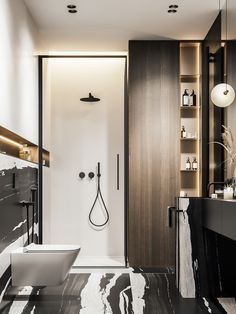SubbotA on Behance Bathroom Niche, Bathroom Floor Tiles, Bathroom Interior, Small Bathroom, Vanity Bathroom, Bathroom Wallpaper, Design Bathroom, Bathroom Signs, Bathroom Cabinets