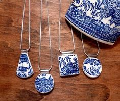 The Etsy Boutique of the Week selected by Mary Kincaid: Red Pine Jewelry Design featuring recycled broken china and glass jewelry. Ceramic Jewelry, Resin Jewelry, Glass Jewelry, Jewelry Art, Quartz Jewelry, Quartz Ring, Fashion Jewelry, Diy Schmuck, Schmuck Design