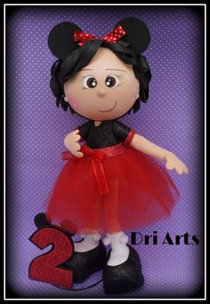bf87f026fda2db662d47c82c0ffb74d8.jpg (706×1024) Minnie Mouse, Foam Crafts, Diy Crafts, Clay Pot People, Quilling, Diy Doll, Baby Shower, Dolls, Ideas