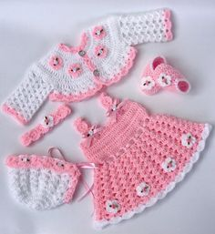Pink baby girl dress pink baby dress pink baby girl outfit crochet baby dress set coming home outfit crochet baby outfit newborn dress Bonnet Crochet, Crochet Baby Dress Pattern, Crochet Bebe, Crochet Girls, Crochet Baby Clothes, Crochet Patterns, Crochet Shoes, Crochet Cardigan, Crochet Baby Outfits