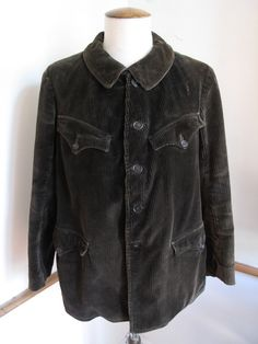 Image of <b>1950's 'Adolphe French Hunting Brown Corduroy Jacket</b>