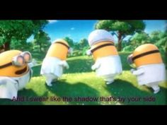 Minions - I Swear Despicable Me 2 - All 4 One - Cover and I died.so cute! love the minions