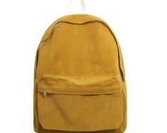 Casual backpack throughout all seasons. Soft corduroy material makes it somewhat… Brown Backpacks, School Backpacks, Leather Backpacks, Leather Bags, Yellow Backpack, Back To School Bags, Lightweight Backpack, Backpack Bags, Duffle Bags