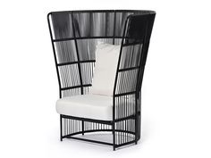 TIBIDABO High-back armchair by Varaschin design Calvi Brambilla