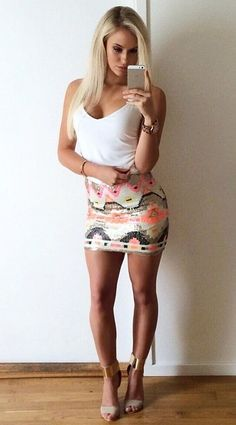 hotminiskirts:  Anna Nystrom again, with her perfect body and legs in a mini skirt and heels.   Check out our other blogs and pages:http://www.oohlala.clubhttp://racychicks.tumblr.comhttp://fitandhot.tumblr.com        Nice! Cute!!