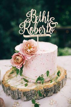 Wedding Cake Topper Initials Cake Topper Personalized Wedding Cake Topper Wood Cake Topper Monogram Cake topper Custom Cake topper - The Wedding Pins Wood Wedding Cakes, Wedding Cake With Initials, Rustic Wedding Cake Toppers, Personalized Wedding Cake Toppers, Wedding Topper, Wedding Rustic, Wedding Ideas, Forest Wedding, Wedding Venues
