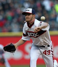 CHICAGO, IL - MAY 12: Starting pitcher Chris Sale #49 of the Chicago White Sox delivers the ball against the Los Angeles Angels of Anaheim at U.S. Cellular Field on May 12, 2013 in Chicago, Illinois. (Photo by Jonathan Daniel/Getty Images)