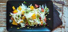 Bilde av fennikel- og appelsinsalat med granatepledressing