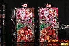 ダミエ柄 iPhone7ケース グッチ アイフォーン6sカバー 手帳型 GUCCI iPhone seケース 花柄 レザー製 ブランド iPhone 6splusカバー