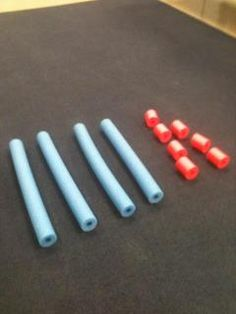 Need a larger visual for place value (tens and ones)?  Try pool noodles... clever.