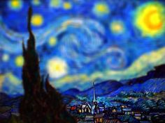 Serena Malyon, an illustrator in her third year at the Alberta College of Art & Design, has taken the classics works of Vincent Van Gogh and added a contemporary twist. Using Photoshop, Serena has added the 'tilt-shift' effect to Van Gogh's paintings, providing a fresh perspective on these masterpieces.