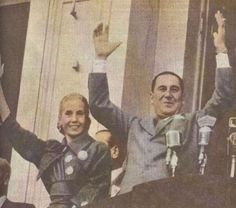 EVA Y JUAN DOMINGO PERON Argentine Buenos Aires, President Of Argentina, Queen Of Hearts, Rock And Roll, The Man, Presidents, Success, Lady, Backpacks