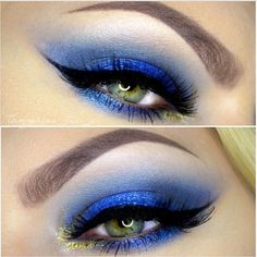 blue, black, and gold all bring out hazel eyes.