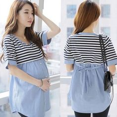 7bc65017789a6 2016 New Women Maternity Blouses Shirt Striped Nursing Top Blouse Shirts  Breastfeeding Pregnancy Clothes For Pregnant
