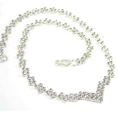 Crystal Diamante Step Necklace from ayedo.co.uk