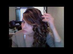 Side Swept Curls for long & short hair