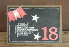 zeit-zum-basteln.de - Karte zum 18. Geburtstag, Duftes Dutzend, Tafeltechnik