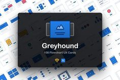 Greyhound UX Flowcharts by Craftwork on @creativemarket