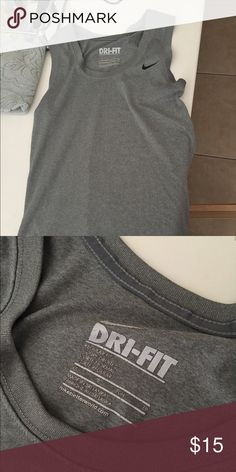Nike dri fit tank Work a handful of times, like new condition Nike Tops Tank Tops