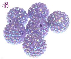 22mm Jewelry Lavender Resin Rhinestones Ball Beads / From Vcbeads, $27.48 | Dhgate.Com