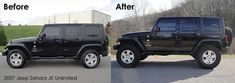 It makes a world of difference!  2.5 lift, 35 tires on stock 18 rims. Jeep Wrangler Sahara Unlimited #JEEP http://www.wheelhero.com/topics/Jeep-Wheels-For-Sale