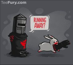 Running Away T-Shirt $11 Monty Python tee at TeeFury today only!