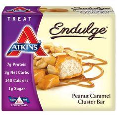 Atkins Endulge Pieces Peanut Caramel Cluster Bar 5 Oz