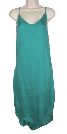 80369d005bd6e CLOTH  amp  STONE Green Spaghetti Strap V-Neck Summer Hi Lo Slip Dress Open  · Green SpaghettiHi Low DressesMaxi DressesGladiator SandalsResort ...