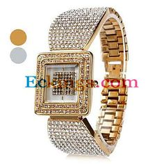 Diamond Style Women's Alloy Analog Bracelet Quartz Watch (Assorted Colors) : Online Shopping for Watches, Toys & more