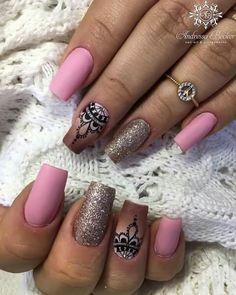 Get Nails, Fancy Nails, Colorful Nail Designs, Nail Art Designs, Wonder Nails, Uñas Fashion, Pink Nail Art, Stylish Nails, Fabulous Nails