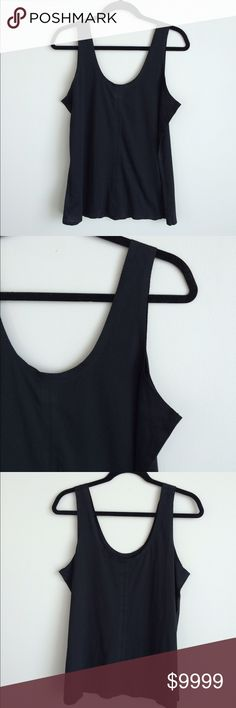 Kate Spade Saturday black tank cami Kate Spade Saturday black tank cami   Condition: preowned, no holes or stains, normal wear from washing and wearing   Color: black  Measurements: Size large Underarm to underarm is approximately  19 3/4 inches across.  Length from top of shoulder to bottom of hem is approximately  25 inches.  Features: unique seaming details   Materials: 65% polyester, 35% cotton Kate Spade Saturday Tops Tank Tops