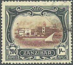 Zanzibar 200 Rupees stamp More about #stamps: http://sammler.com/stamps/ Mehr über #Briefmarken: http://sammler.com/bm