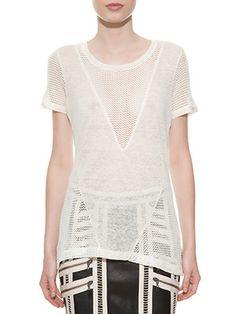 T-Shirt V Tuileries Off-White