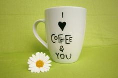 I   COFFEE & YOU   Tasse  von hochdietassen via dawanda.com