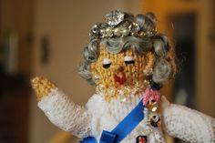 Queen Diamond Jubilee Doll Knitted
