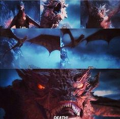 Smaug the Terrible.// The animators made Smaug truly terrifying, and don't even get me started on the voice. Legolas And Tauriel, Gandalf, Desolation Of Smaug, Jrr Tolkien, Viking Age, Stuff And Thangs, Dark Lord, The Villain, Middle Earth