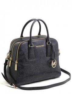 Michael Kors-alexis navy satchel leather bag-borsa alexis satchel blu navy