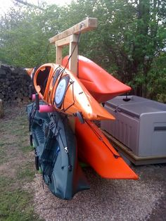 Kayak storage - outside. - Sea Kayaker Magazine On-Line Community