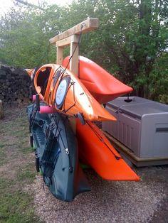 1000 images about kayak storage on pinterest kayak for Canoe storage shed