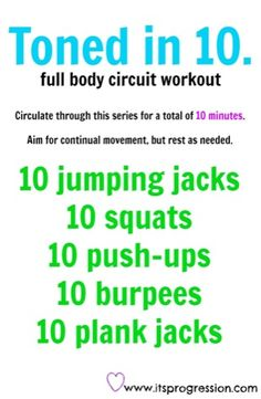 Toned in 10 - full body circuit workout!