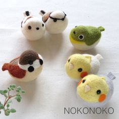 Wool felt hand riding bird sparrow white-eye Cockatiel long-tailed tit