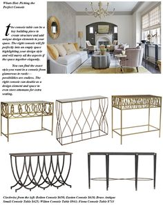 What's Hot: Picking the Perfect Console Console, Hot, Interior, Table, Furniture, Home Decor, Decoration Home, Indoor, Room Decor