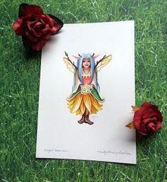 Lady Amelia Ration  Original Watercolor Illustration by LuminAngel, $45.00