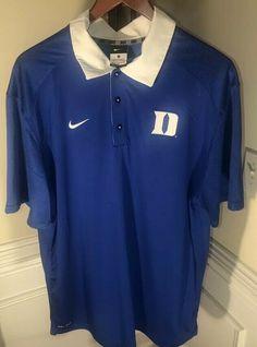 f05ee0be5 Duke Blue Devils Elite Nike Coaches Dri-FIT Men s Polo Shirt