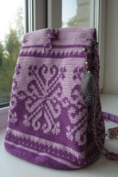 Tapestry crochet bag